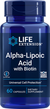 Alpha-Lipoic Acid with Biotin -60 Capsules by Life Extension - Natural Health Store