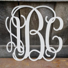 Load image into Gallery viewer, Wooden Monogram - Vine Script Font (Special Offer)