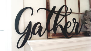 Gather - Wooden Word