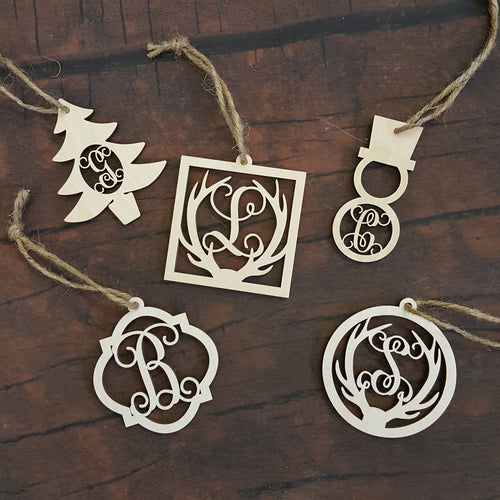 Initial Christmas Ornaments