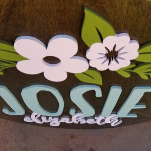 Name Round - The Josie Design