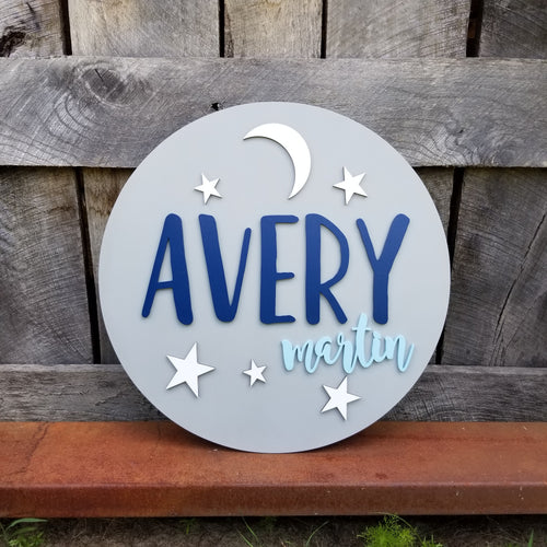 Name Round - The Avery Design