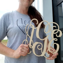 Load image into Gallery viewer, Wooden Three Letter Monogram - 10 Inch (special offer)