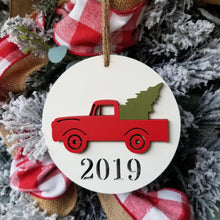 Load image into Gallery viewer, Red Truck Christmas Ornament