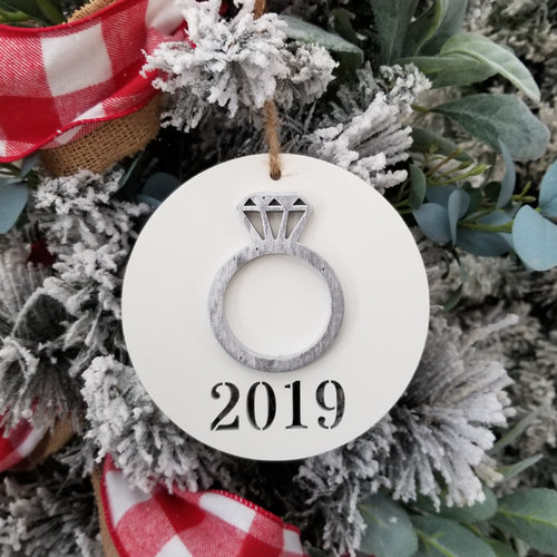 Engagement Christmas Ornament - We're Engaged Ornament