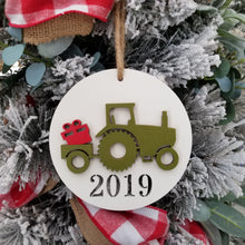 Load image into Gallery viewer, Tractor Christmas Ornament