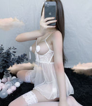 Load image into Gallery viewer, Romancing After Night White Babydoll