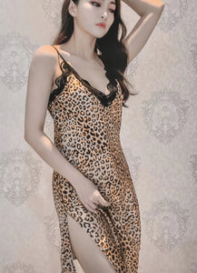 Leo Silky Nightdress Long Chemise