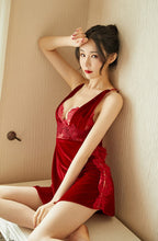 Load image into Gallery viewer, Red Maiden Nightdress & Slip