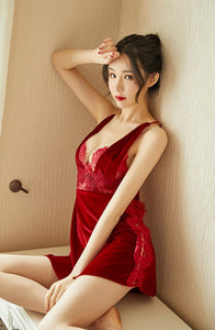 Red Maiden Nightdress & Slip