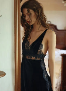 Black Maiden Nightdress & Slip