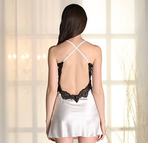 Chile X-Cross Open Back Dress (Pearl White)