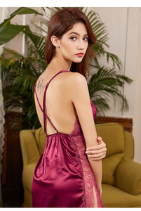 Glamorous Side Split Chemise – Red