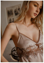 Load image into Gallery viewer, Satin Designer Chemise - Coffee Milk
