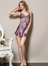 Load image into Gallery viewer, Sonia Velvet Lacie Silk Babydoll