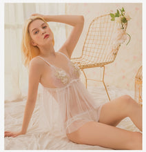 Load image into Gallery viewer, Deli White Floral Babydoll