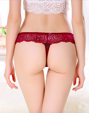 Load image into Gallery viewer, Flirty Lady T-back Thong (Red Wine)