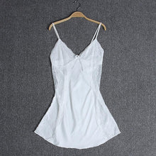Load image into Gallery viewer, Gisela Lacie Waist Slip Dress – Pearl White