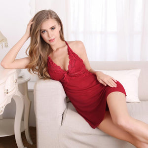 Passionate Love Babydoll – Wine Red