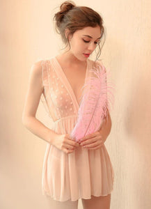 Invisible Romance Babydoll (Pink)