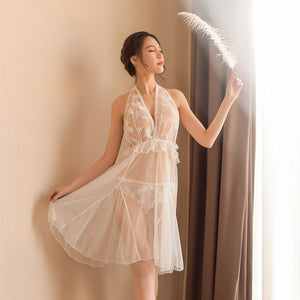 Fairy White Feather Babydoll
