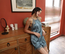 Load image into Gallery viewer, Hazel Blue Cooling Lace Pajamas
