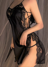 Load image into Gallery viewer, Dutch Lace Bare Sides Mini Dress