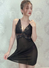 Load image into Gallery viewer, Passionate Love Babydoll – Black