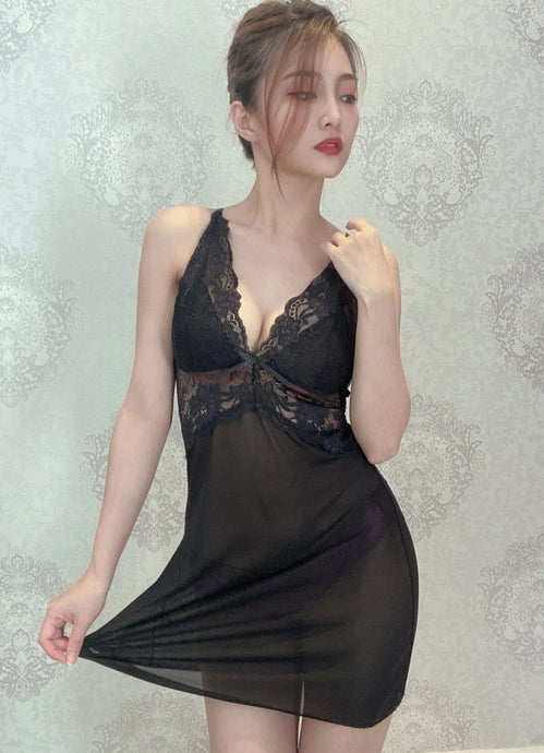 Passionate Love Babydoll – Black