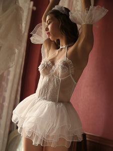 Honeymoon Bridal Semi-hollow Babydoll