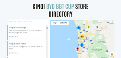 The Purpose of KINOI's BYO BBT Cup Store Directory