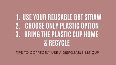 KINOI teaches you how to be more 'eco-friendly' with a disposable bbt cup
