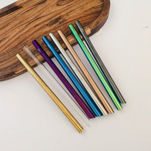 1x Premium Bubble Tea Stainless Steel Straw & Bag Kit - Choose from 8 colours!