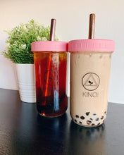 Load image into Gallery viewer, Matte Pastel Bubble Tea Large Set - Cup, Straw & Bag (700ml/24oz)