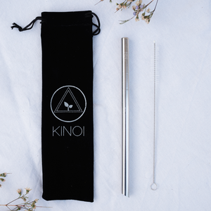 1x Bubble Tea Stainless Steel Straw & Bag Kit (8 Colours)