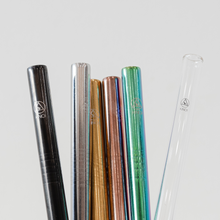 Load image into Gallery viewer, 1x Premium Bubble Tea Stainless Steel Straw & Bag Kit - Choose from 8 colours!