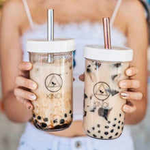 Load image into Gallery viewer, 2x Premium Bubble Tea Stainless Steel Straw & Bag Kit