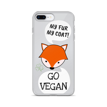Load image into Gallery viewer, GO VEGAN - iPhone+Samsung Transparent Phone Case *FOX*