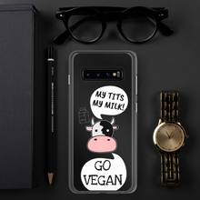 Load image into Gallery viewer, GO VEGAN - iPhone+Samsung Transparent Phone Case *COW*