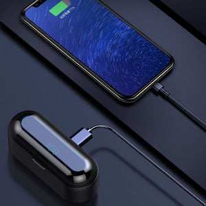 MicroPods™ Bluetooth 5.0 Earphones 2019 with Case + Display