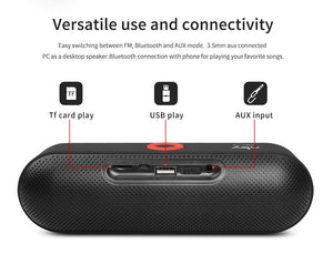 Portable Bluetooth Speaker with Dual Driver Loudspeaker