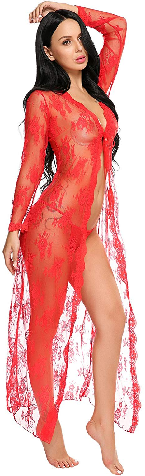 Sexy Lingerie | Lace | Long Dress | Extreme See-through - BULULU-SHOP (4168567357499)