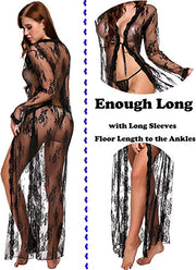 Sexy Lingerie | Lace | Long Dress | Extreme See-through - BULULU-SHOP