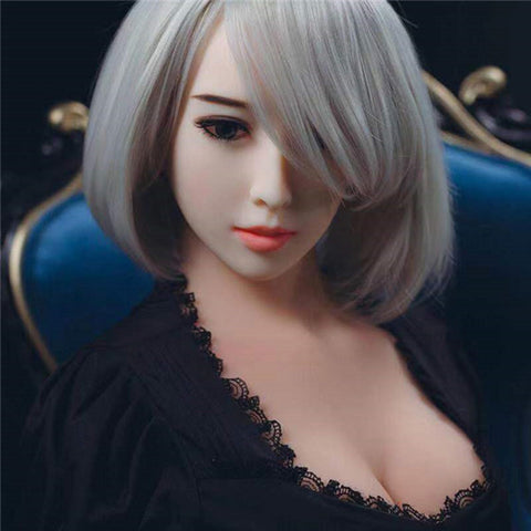 Silver Hair Sex Doll | Non-inflatable Men's Lifestyle Products | Masturbator Intelligent Sex Silicone Doll