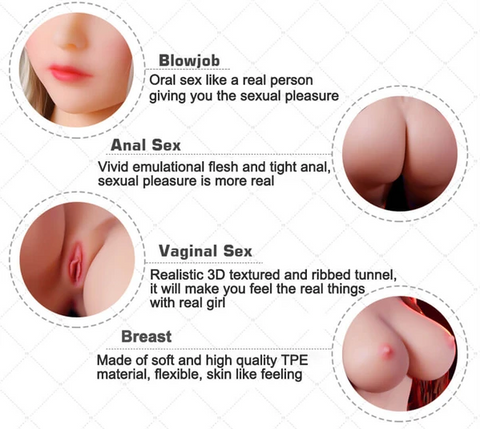 Lifelike Silicone Sex Dolls for Men 140cm | Real Love Dolls Realistic Big Breast Anal Vagina Adult Sexy Doll Male Masturbators