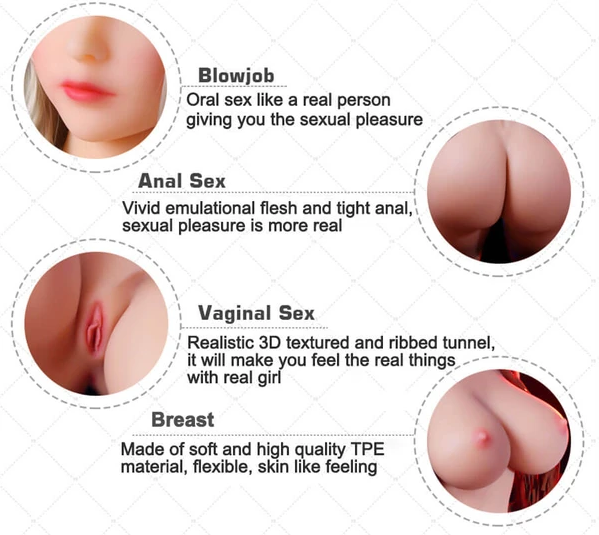 158CM F-Cup Real Silicone Sex Dolls for Men | Lifelike Soft TPE Sex Toys with 3 Holes Full Size Real Love Doll - BULULU-SHOP