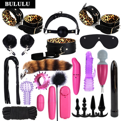 SM props adult couples sex toys | vibrator female masturbator stick | 24pcs sex toys set - BULULU-SHOP (4426598907948)