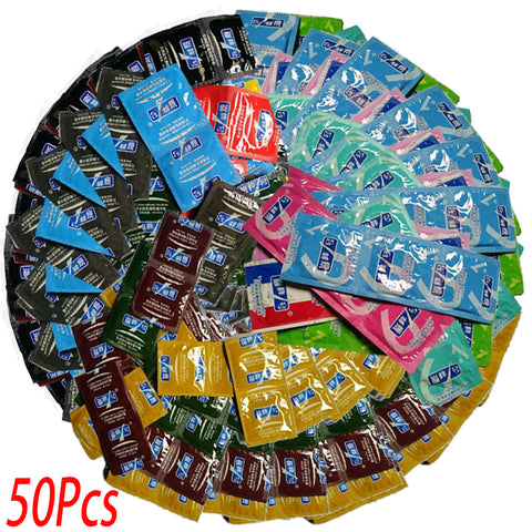 Adult Condoms | Large Oil Condom | Smooth Lubricated Condoms | Penis Contraception Intimate | Erotic Sex Toys Products  | 50 Pcs