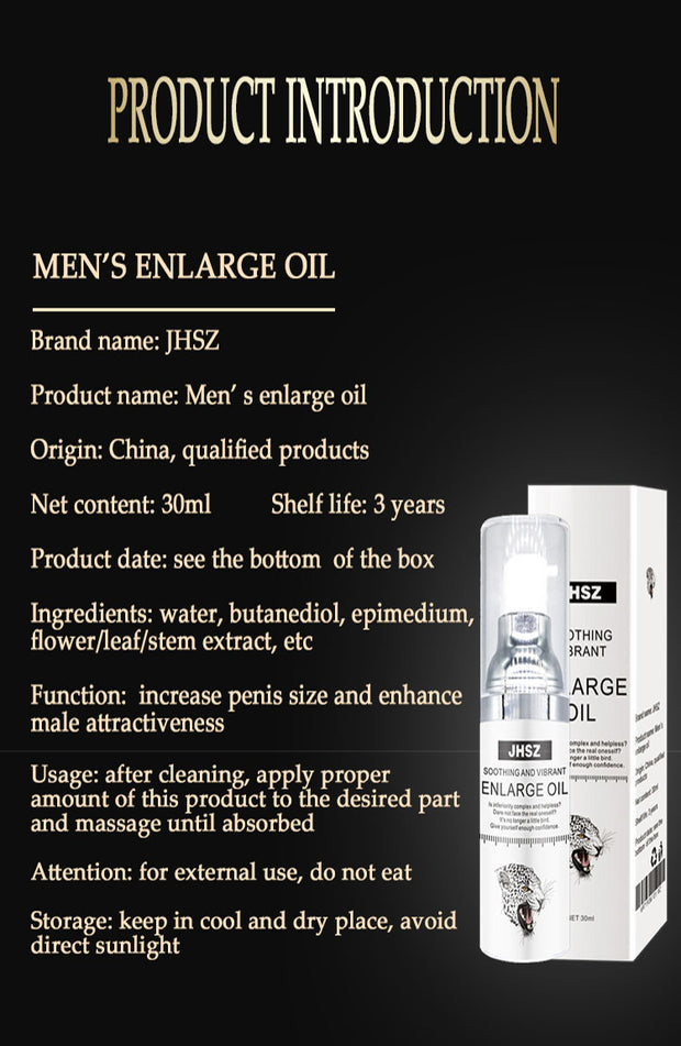 Big dick Men's Massage Oil Penis Enlargement Cream Retarder Intim Gel Help Male Potency Penis Growth Delay Cream Sex Lube - BULULU-SHOP