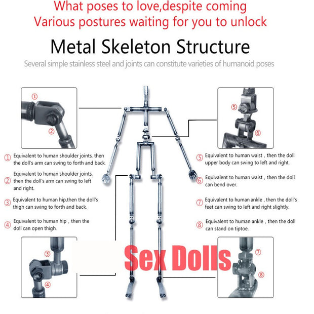 NEW Silicone Sex Doll Love Doll | Metal Skeleton and Artificial Vagina Fake Ass Life Size Masturbator Toys - BULULU-SHOP (4951965761580)